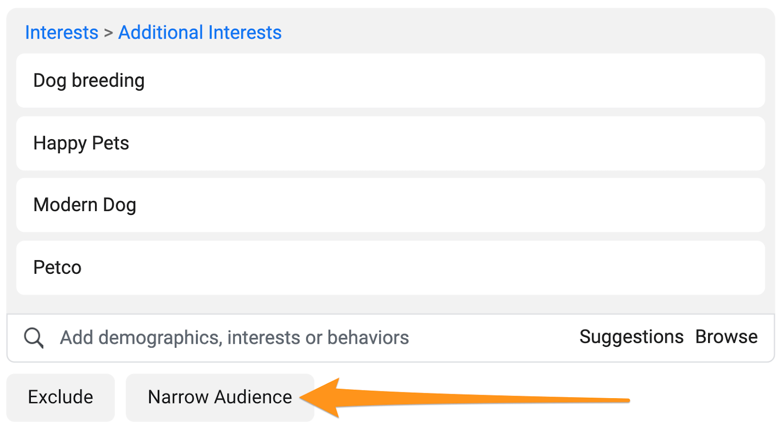 narrow audience interests