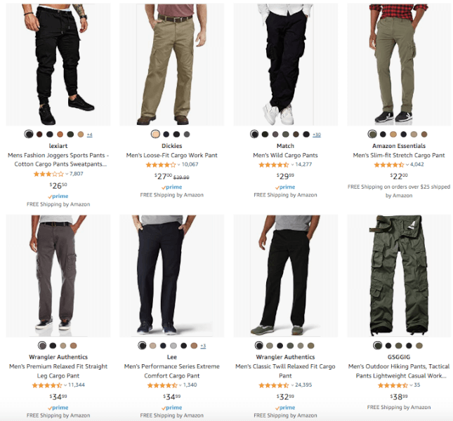 Men's Clothing - Hot Products - Cargo Pants