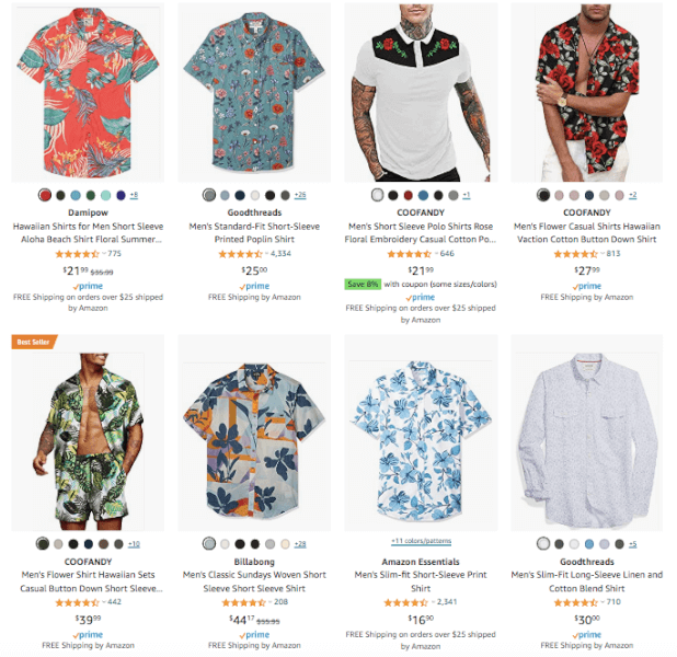 Men's Clothing - Hot Products - Floral Shirts
