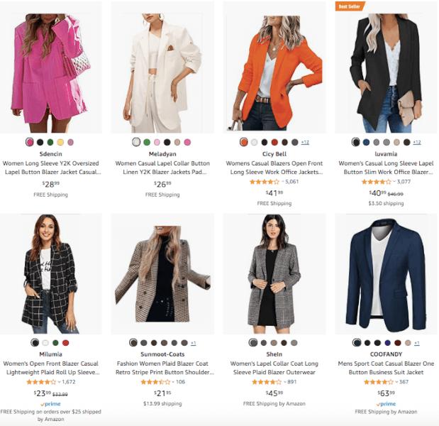 Women's Clothing - Hot Products - Oversized Padded Blazer