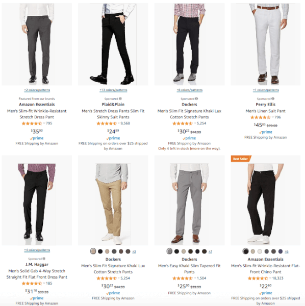 Men's Clothing - Hot Products - Slim Fit Trousers