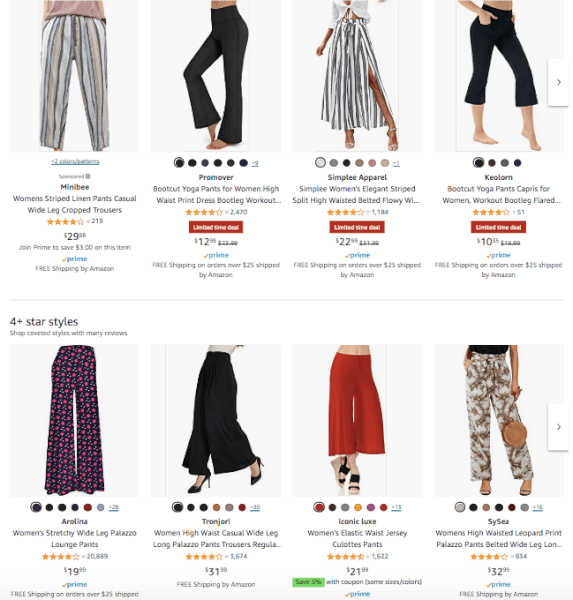 Women's Clothing - Hot Products - Wide Legged Pants
