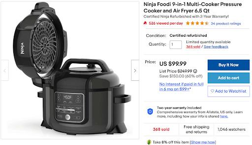 ebay order discounts