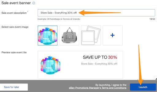launch store sale ebay