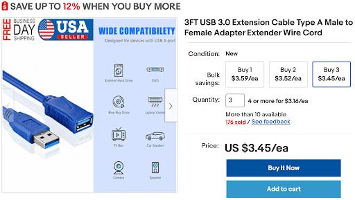 ebay volume pricing