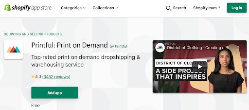 printful dropshipping app