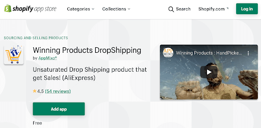 winning products dropshipping app