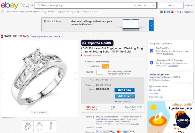 eBay Best Selling Engagement Ring