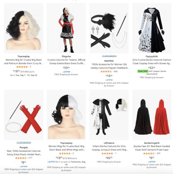 Cruella de Vil Dropshipping Halloween Costume