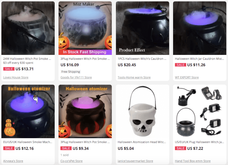 Dropship Specialty Halloween Fog Atomizers