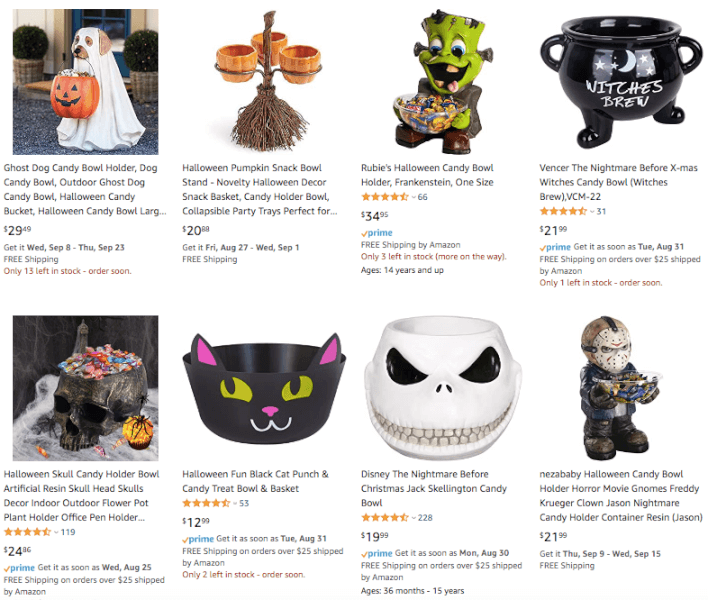 Dropship Halloween Candy Bowls