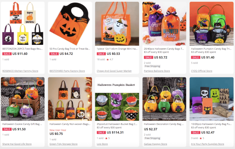Dropship Halloween Trick-Or-Treating Bags