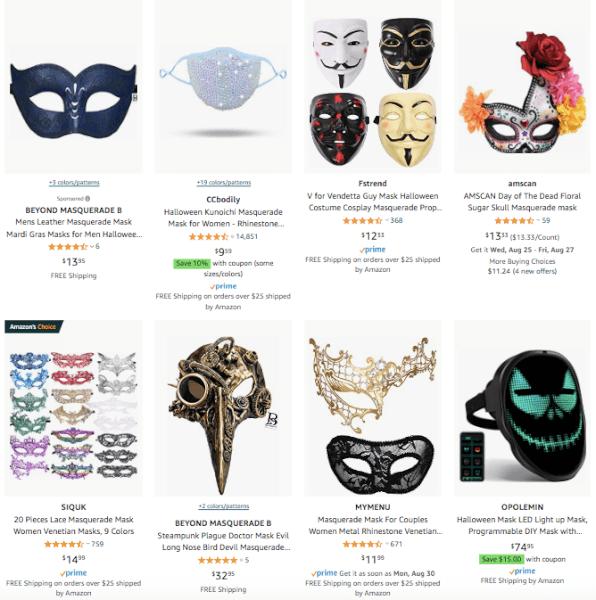 Dropship Halloween Masquerade Masks