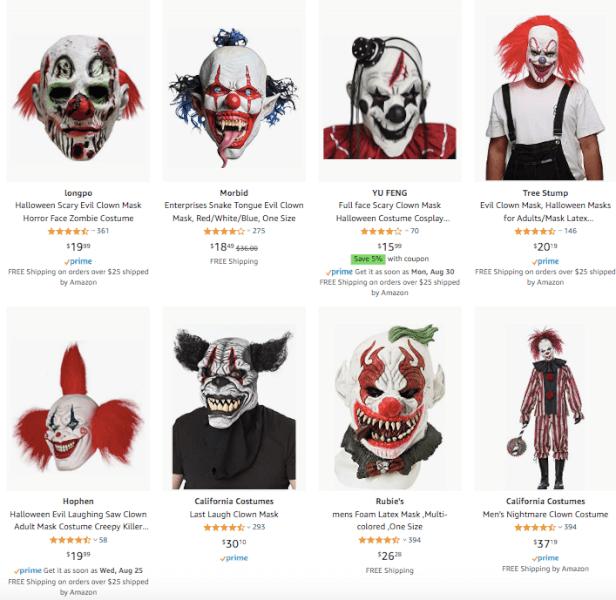 Dropship Halloween Scary Clown Masks