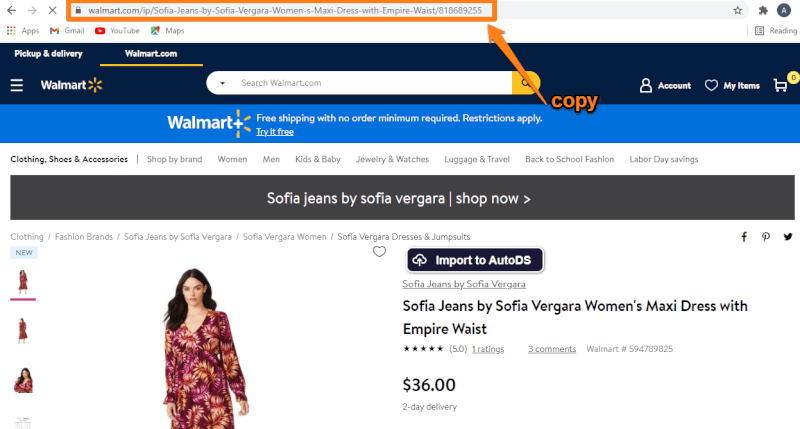 Import Products by Product URL