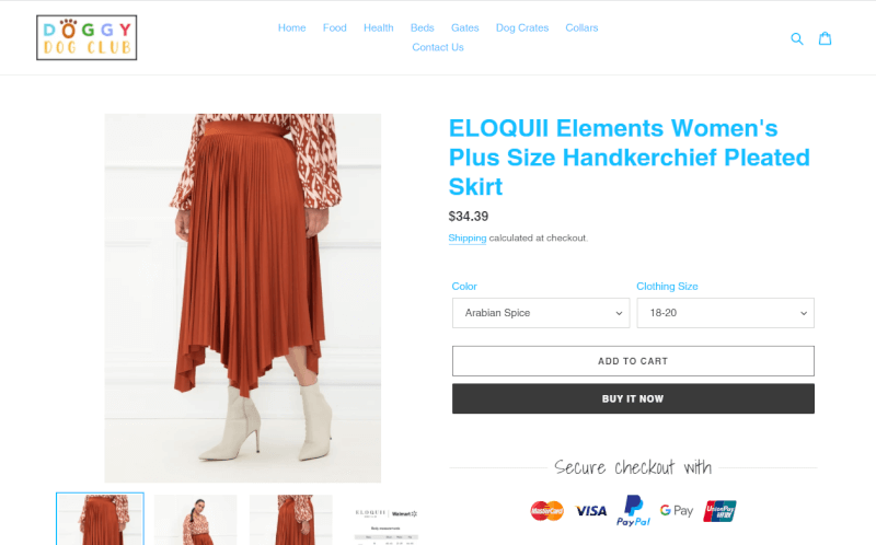 Shopify Store Product from Walmart