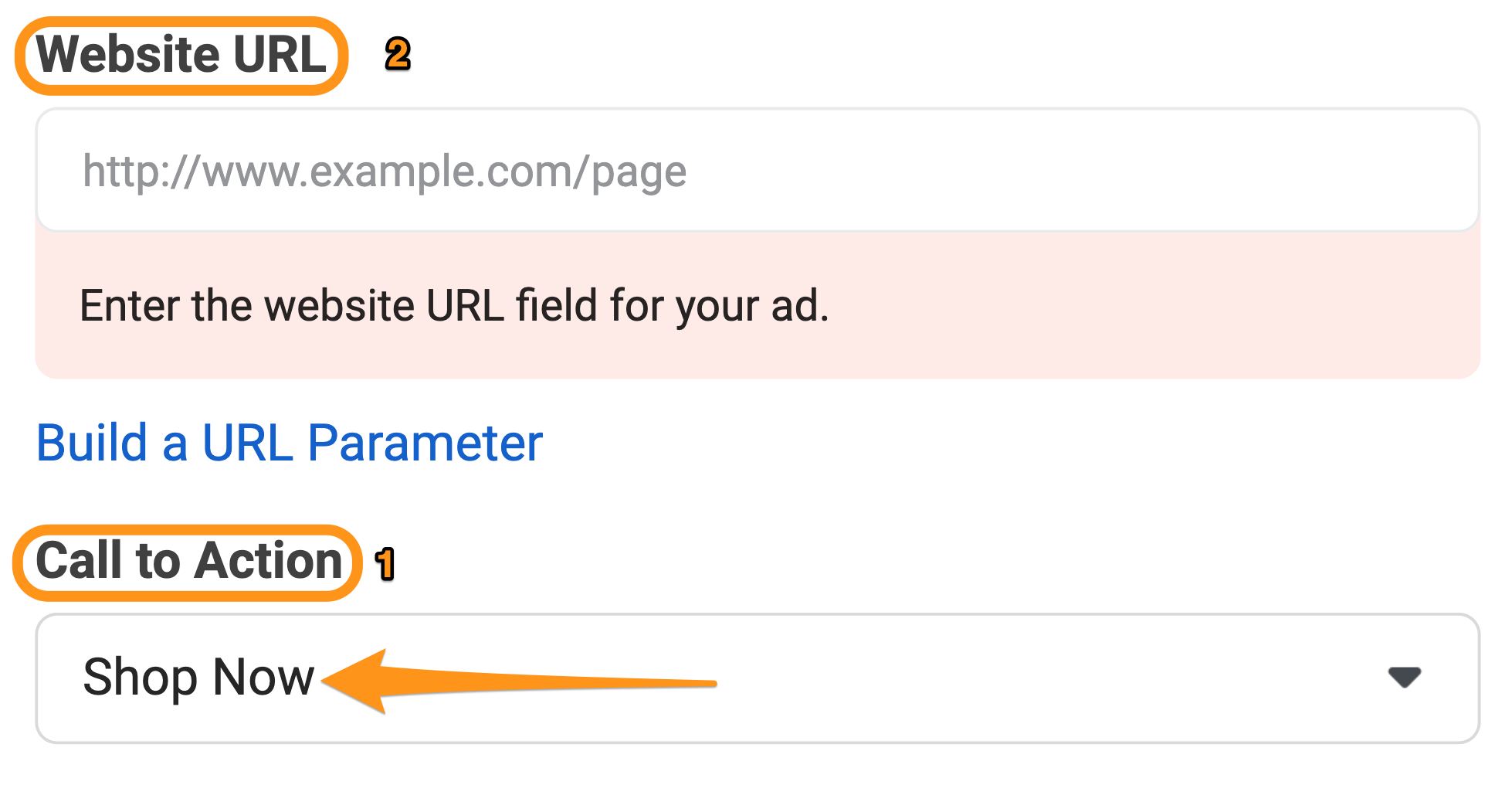 add call to action button