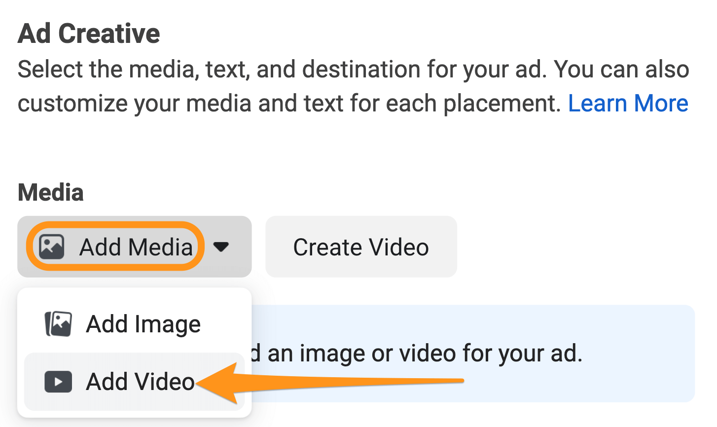 add video to facebook ad
