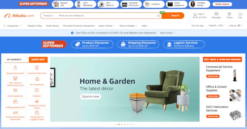 Alibaba Ecommerce platform Dropshipping supplier