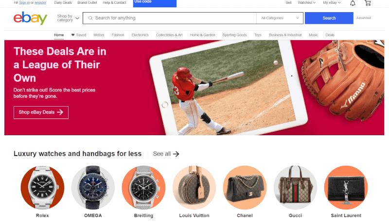 eBay Ecommerce platform