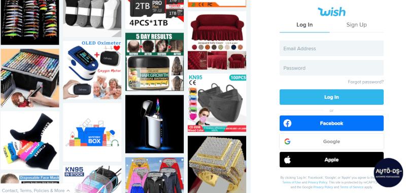 Wish Ecommerce platform