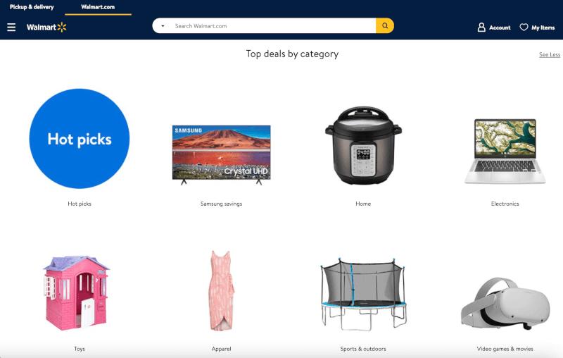 Walmart ecommerce Daily Deals