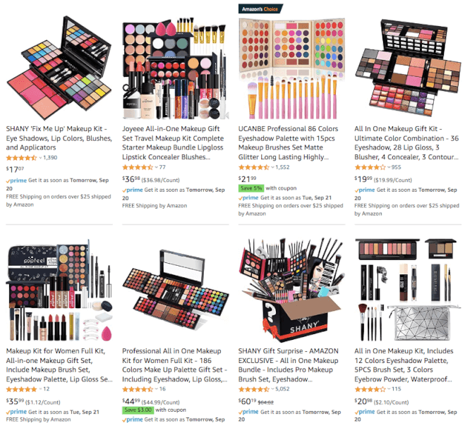 Sell Makeup Kits in October 2021