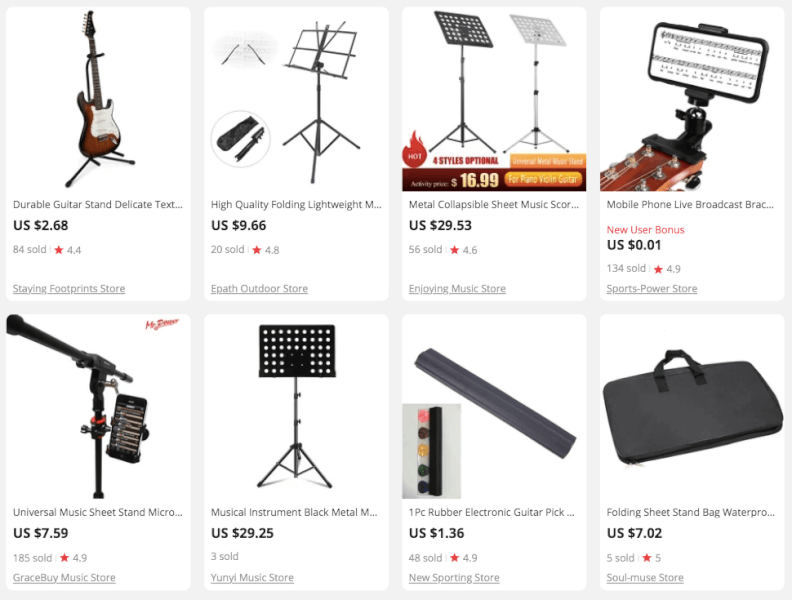 Trending Music Stands to Dropship