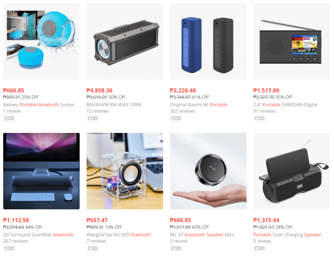 portable bluetooth speaker ecommerce product to sell