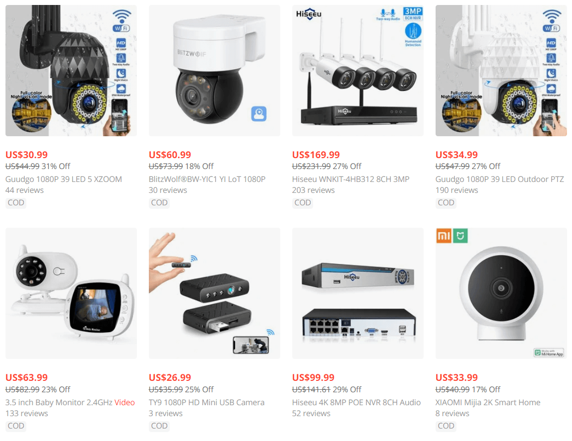 surveillance video equipment dropshipping product