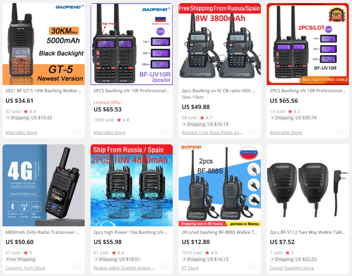 Two-Way Walkie Talkie Radio ecommerce product to sell
