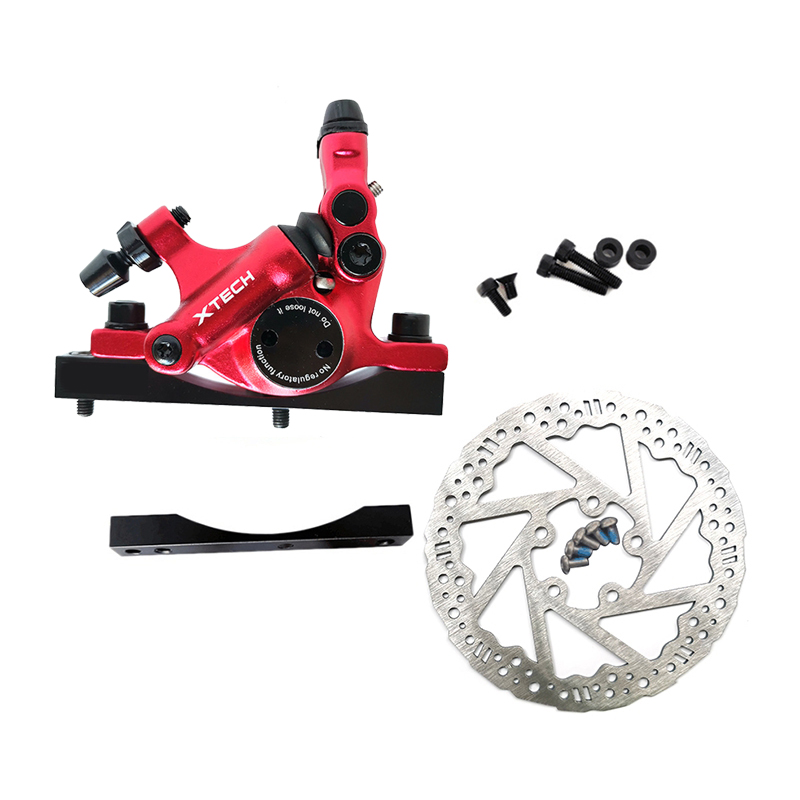 XTECH HB100 Scooters Cable Pull Oil Disc Brake+ Disc Brake+Converter Stainless Steel Electric Scooters Accessories