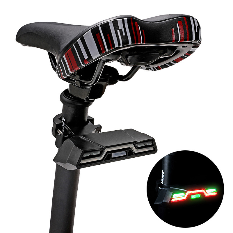 BIKIGHT 42 LED Bike Tail Light with Turn Signals Waterproof 7 Modes USB Rechargeable Ultra Bright Safety Warning Bike Brake Rear Light with Wireless Remote