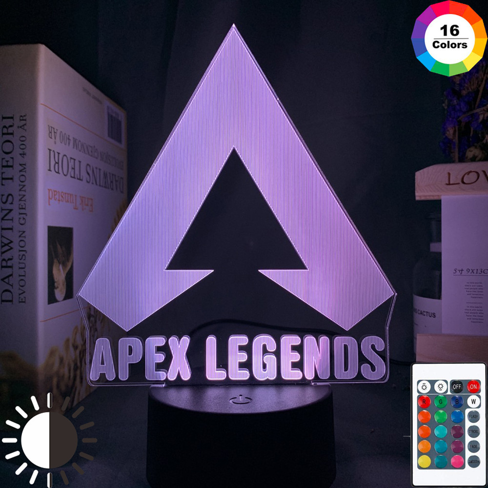 Apex Legends LOGO Night Light Led Color Changing Light for Game Room Decor Ideas Cool Event Prize Gamers Birthdays Gift Usb Lamp