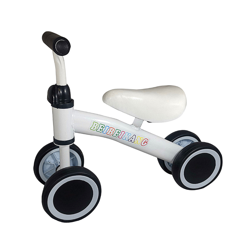 4 Wheel Kids Adjustable Tricycle Baby Toddler Balance Bike Push Scooter Walker Bicycle for Balance Training for 18 Mouths to 2/3/4/5 Year Old Boys&Girls Gifts