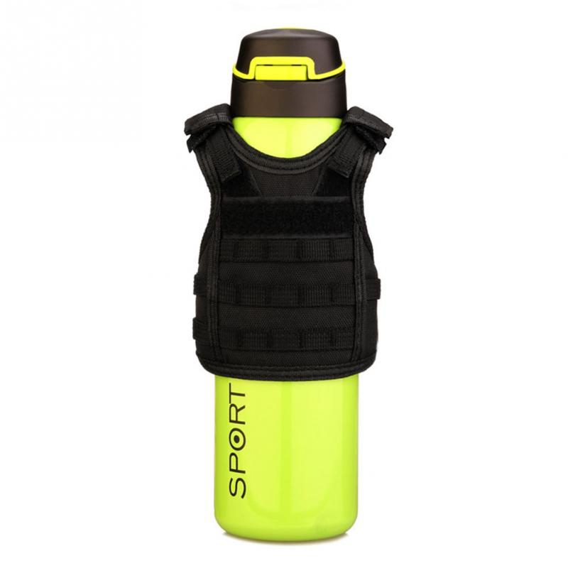 1Pcs Tactical Bottle Cover Mini Molle Vest Drink Bottle Protector Holster for Outdoor Sports