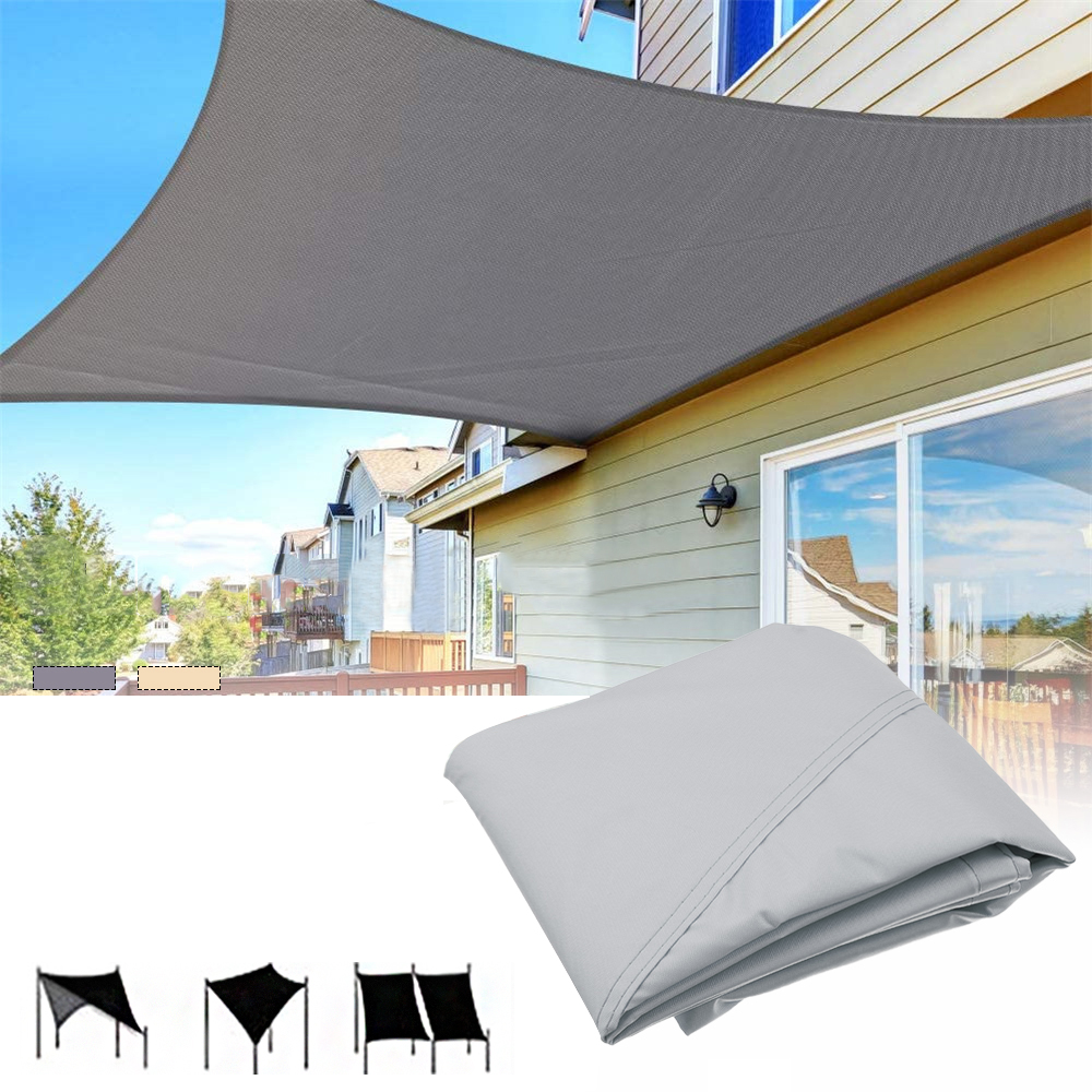 3X6M Sun Shade Rectangle 95% UV Resistant Waterproof Breathable Canopy Awning
