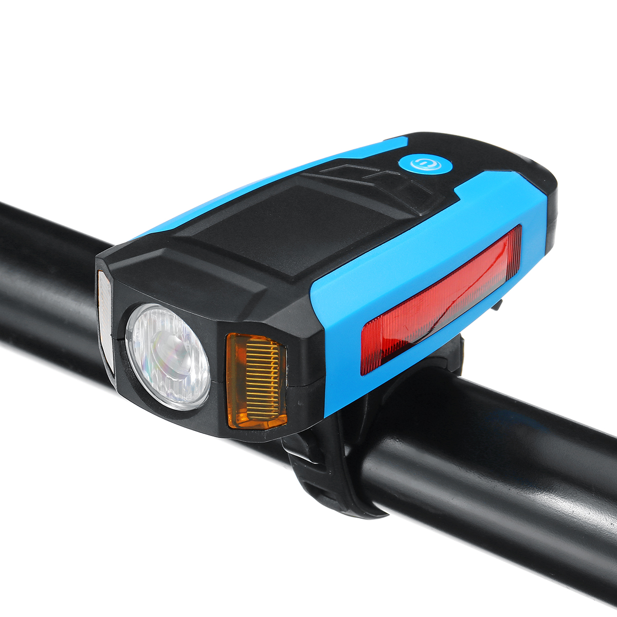 3-In-1 300LM COB Bike Headlight LCD Screen 5-Modes Bicycle Frame Lamp 130Db Bike Horn Waterproof Outdoor Cycling
