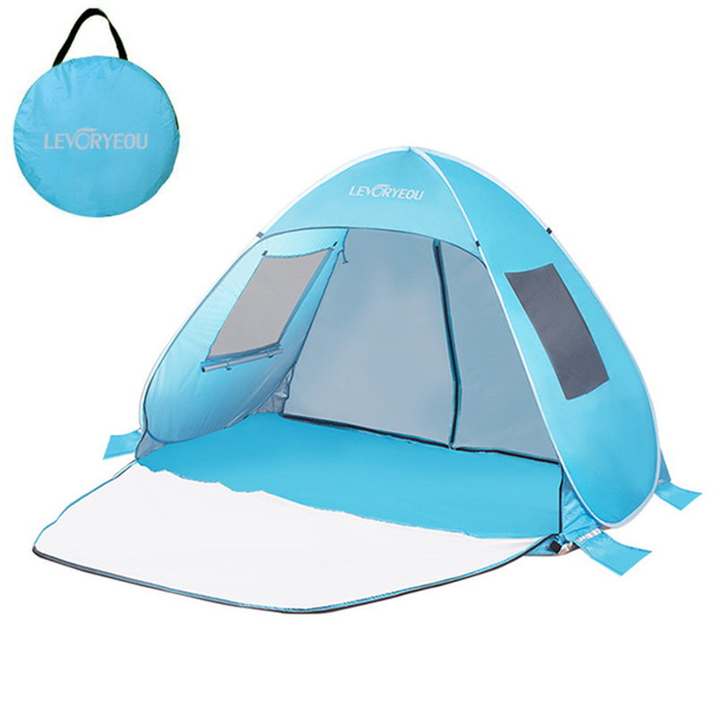 New Automatic Camping Tent Breathable Window Beach Tent Waterproof Uv-Protective Portable Kids' Playground Tent