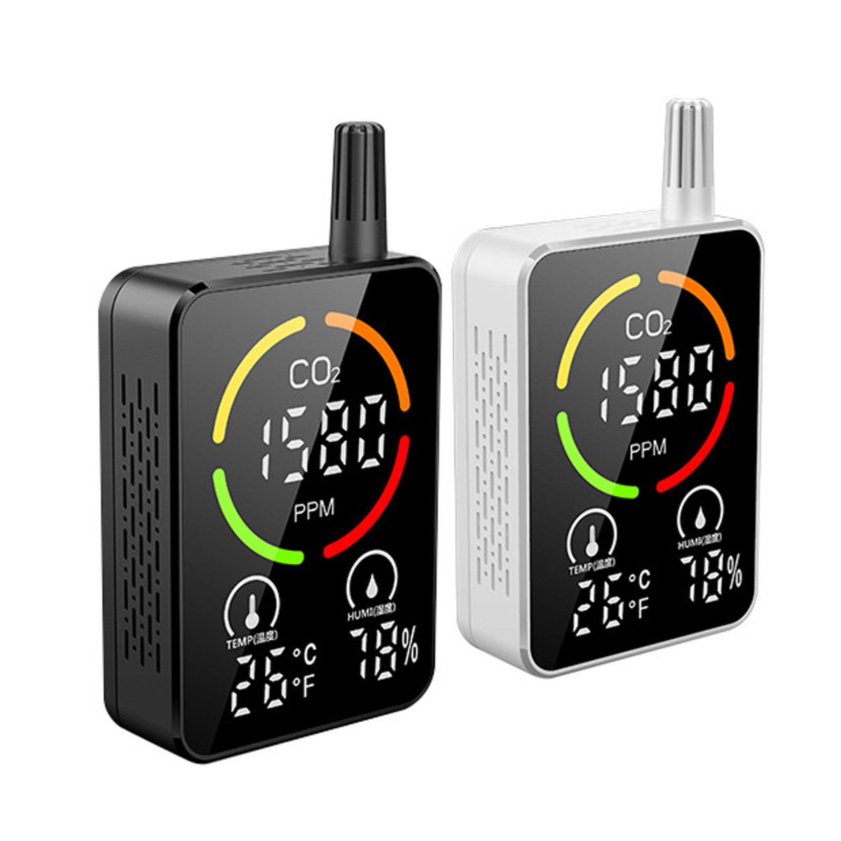 3 in 1 CO2 Temperature Humidity Monitor Infrared Semiconductor Multifunctional Air Quality Detector
