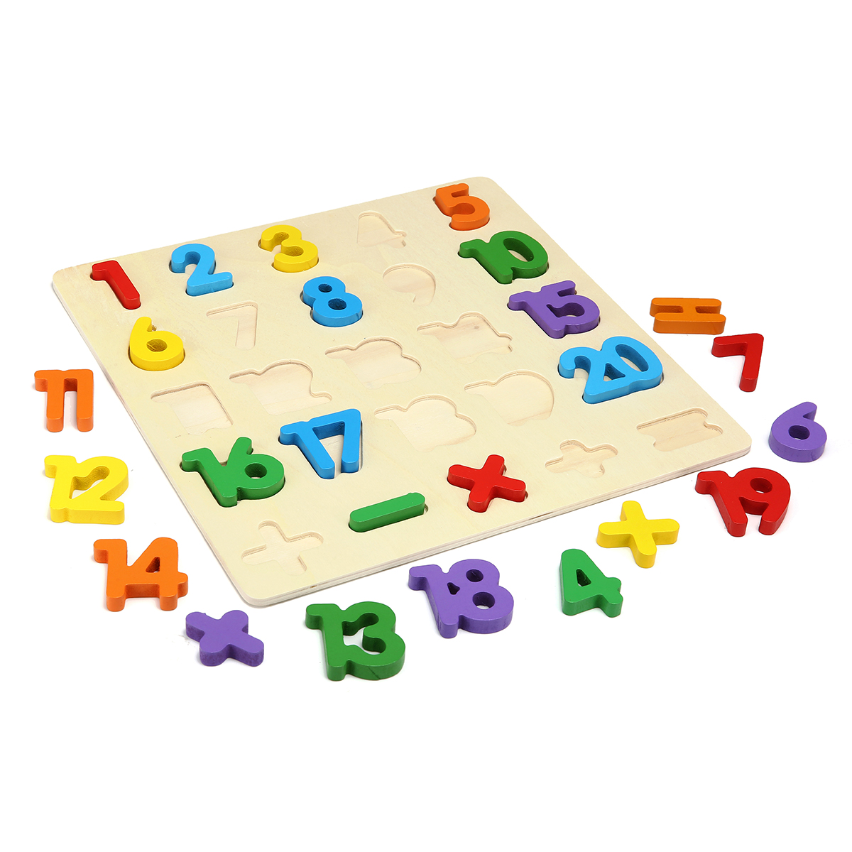 1 Set Wooden Puzzle Hand Grab Board Toy Alphabet Letters Numbers Toddler Kids Early Learning Toys Gift