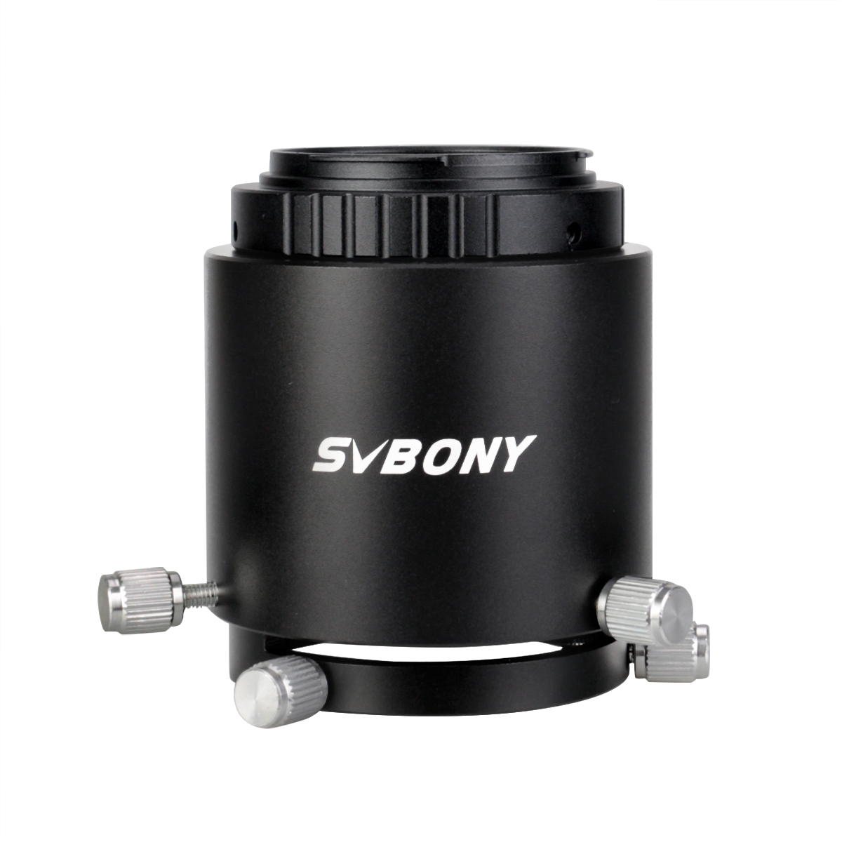 SVBONY Spotting Scope Camera Adapter Extensionable Two Tube Construction Fits Spotting Scope Eyepiece Outer Diameter 49Mm to 58Mm Black Metal for Canon SLR Cameras