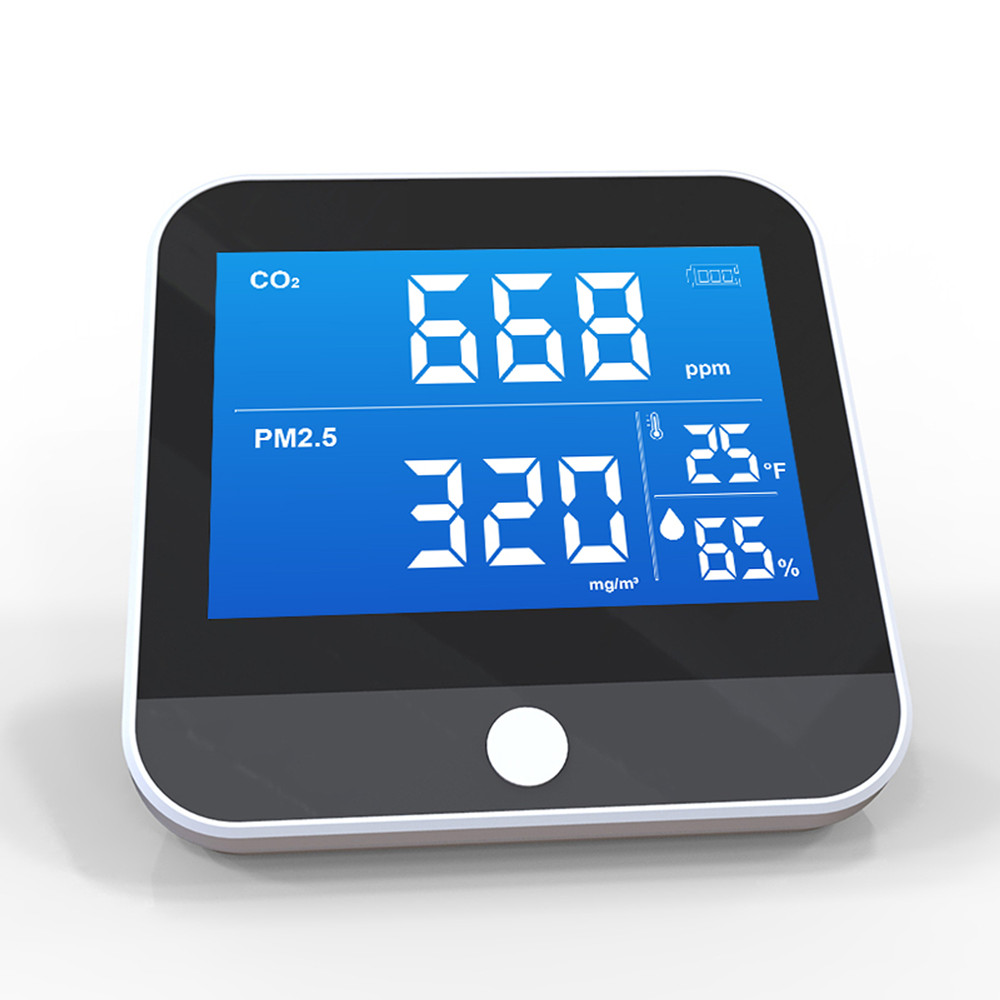DM306D Breathalyzer Air Quality Monitor Digital CO2 Meter Co2 Sensor Common Display CO2 PM2.5 Temperature Humidity Detector Monitor