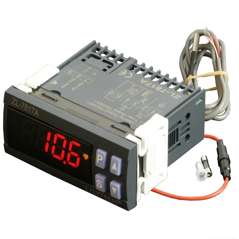 LILYTECH ZL-7817A PID Temperature Controller Thermostat with Integrated SSR 100-240Vac Power Supply CE ISO