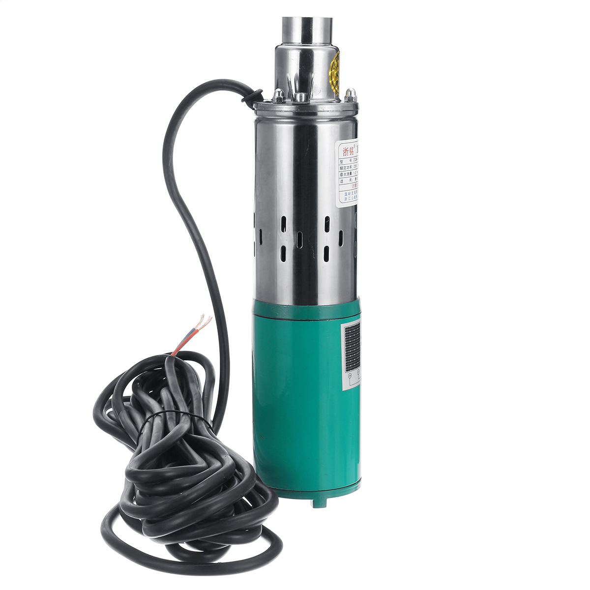 DC 12V 1.2M³/H 220W Solar Powered Water Pump Submersible 30M Stainless Steel Deep Well Pump
