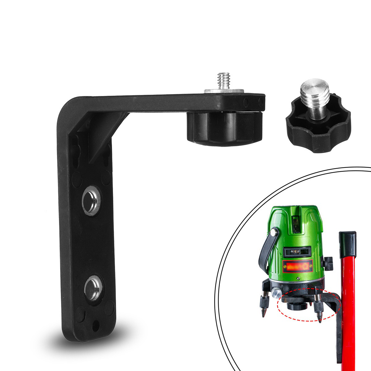 1/4''+5/8'' Adapter Multi-Function Magnetic Wall Mount Bracket for Laser Level