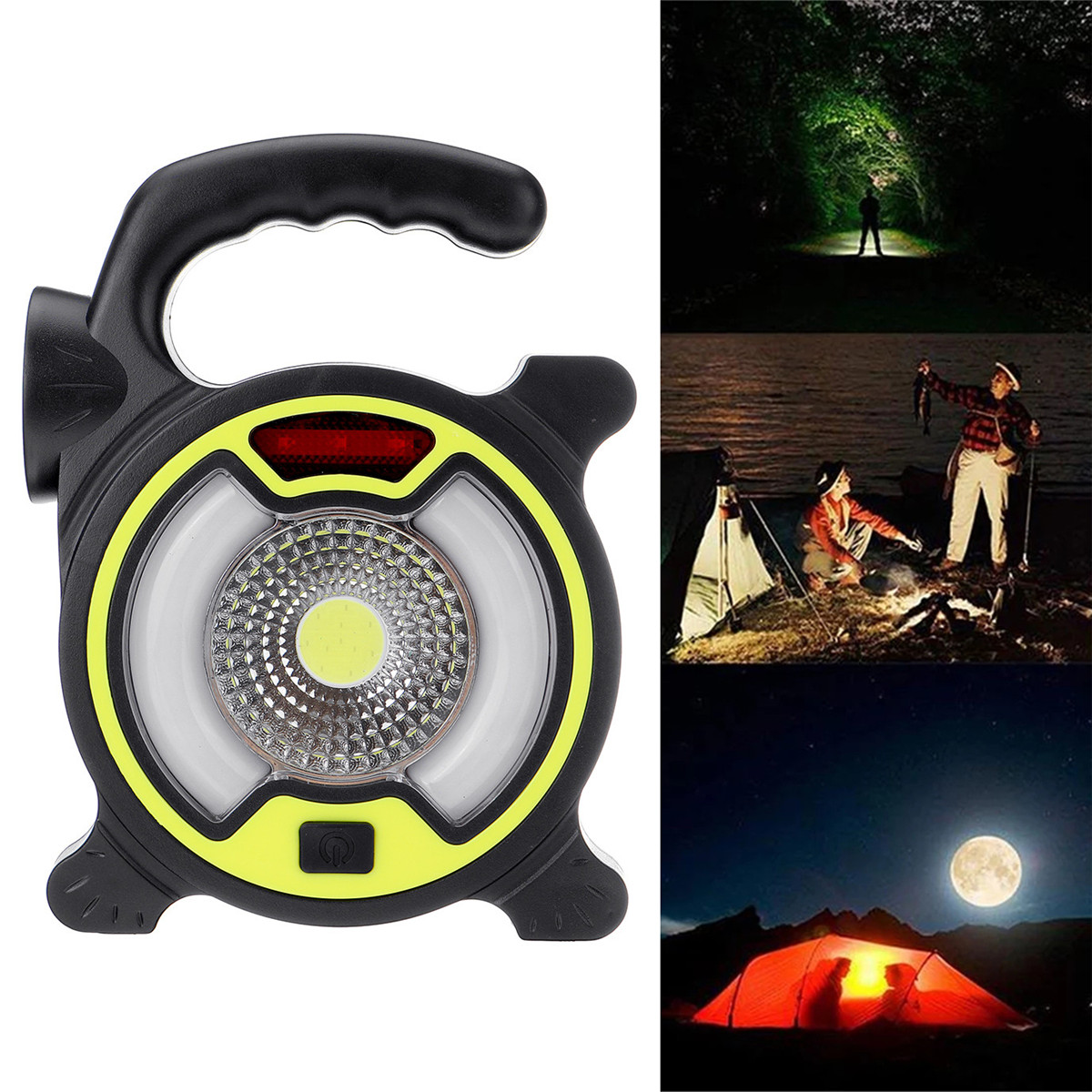 150LM COB Work Light 4 Mode USB Rechargeable Searchlight 200M Outdoor Fishing Camping Light