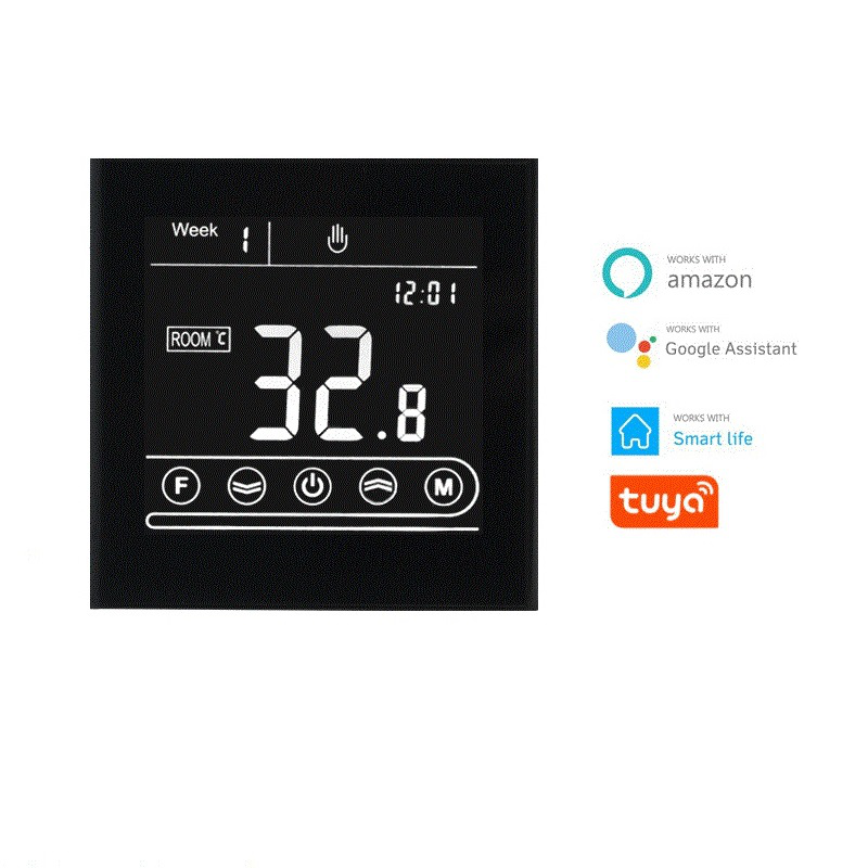 MK70GB Remote Electric Heating Thermostat Smart Wifi High-Power Full-Screen Touch Screen Mobile Phone App Thermostat