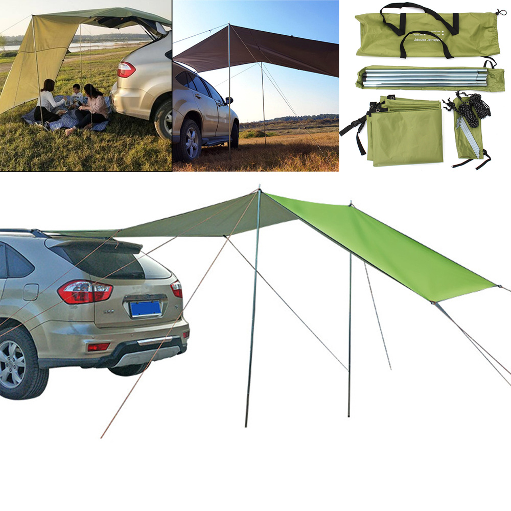 210D Oxford Cloth Car Side Awning Rooftop Tent Waterproof Uv-Proof Sunshade Canopy Outdoor Camping Travel