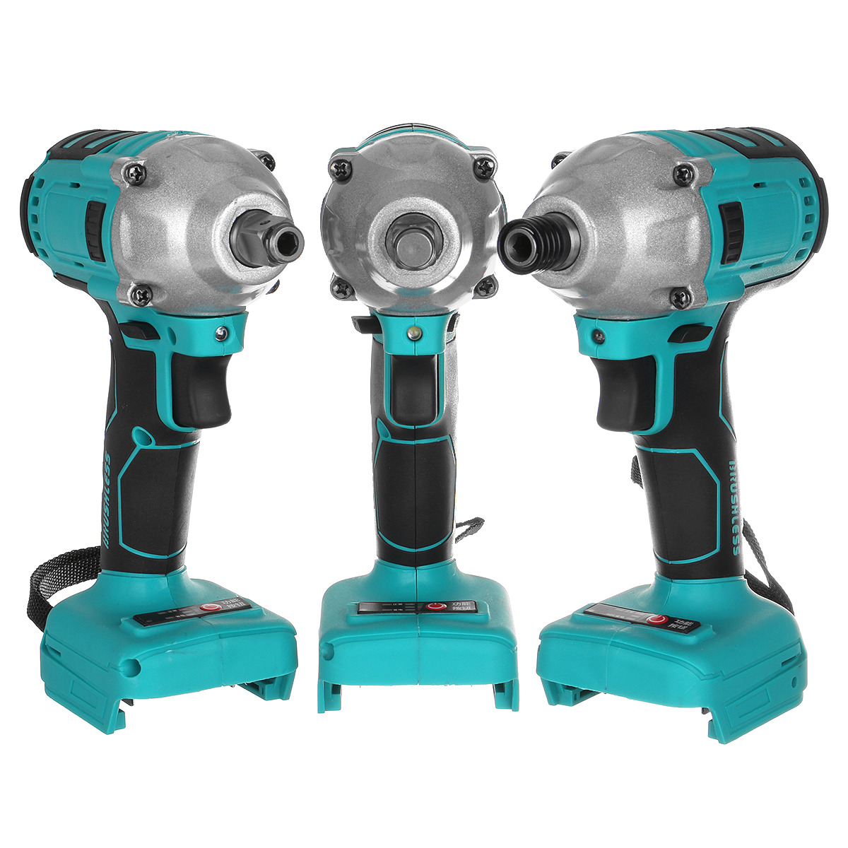 Blue Cordless Brushless Impact Wrench Drill Drive Machine for Makita 18V Battery